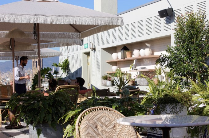 The roof terrace at Soho House Barcelona