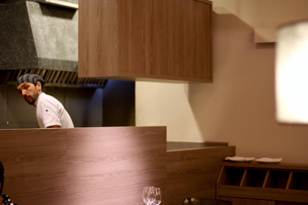 The chef at Petit Pau Sants