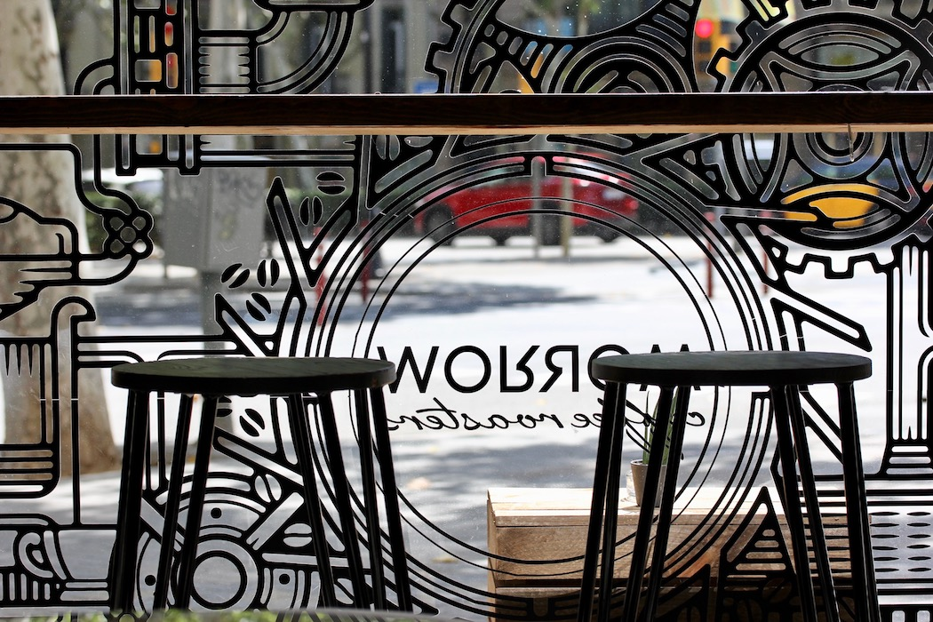 The window at Morrow Coffee