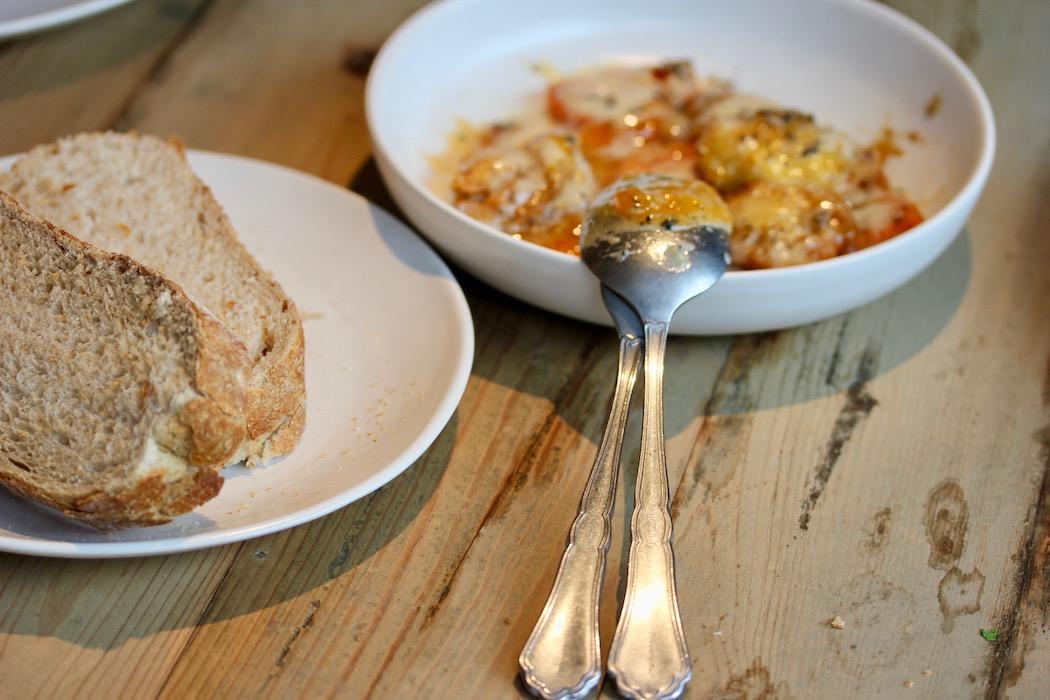 Egg yok dish at Fismuler Barcelona