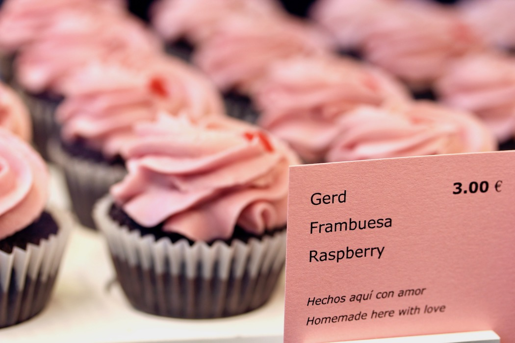 Strawberry cupcakes Cupcake Shop Barcelona