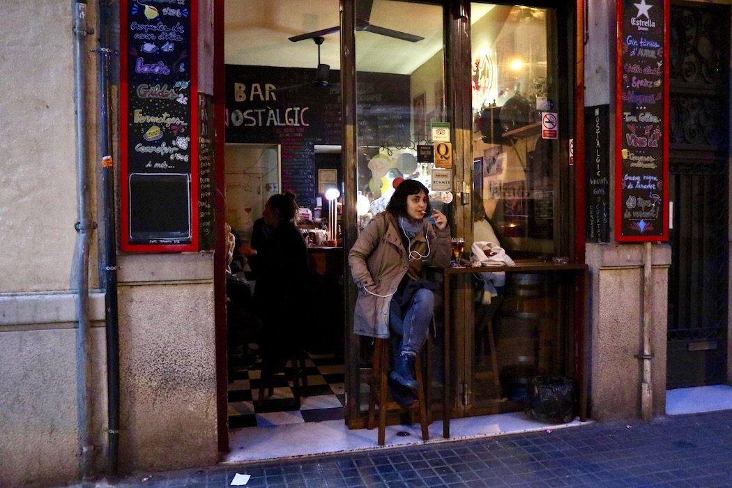 Getting  a drink on Context Travel Barcelona in Sant Antoni
