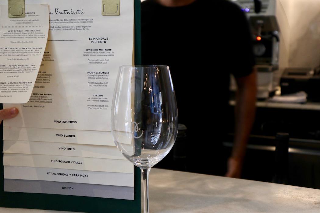 The menu of La Catalista