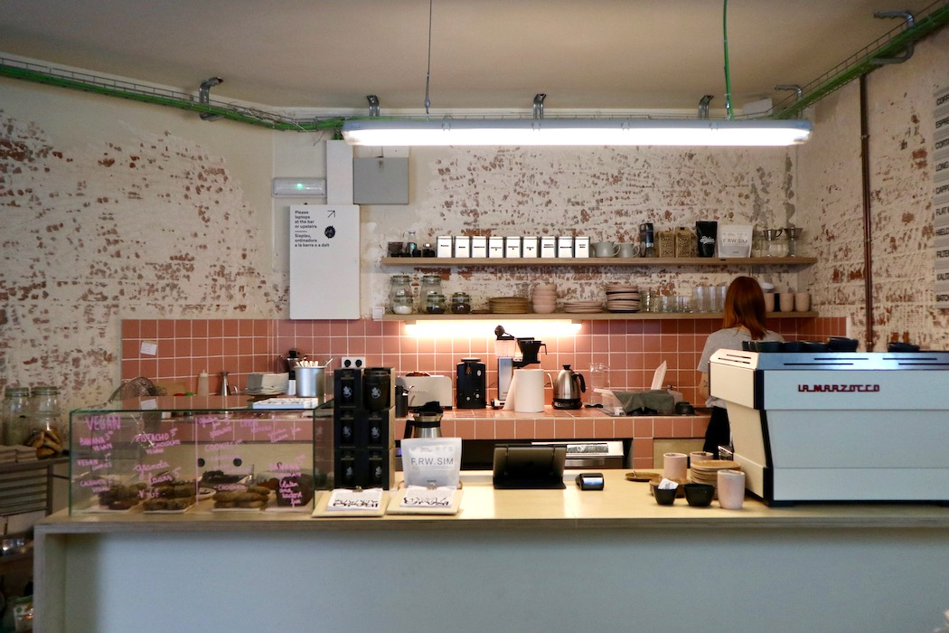 The coffee bar at Orval Coffee Shop