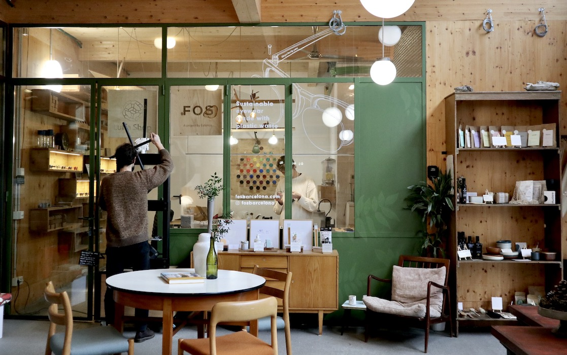 The space at Casa Taos in Poble Nou