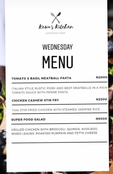 Kewa's Kitchen Lagos