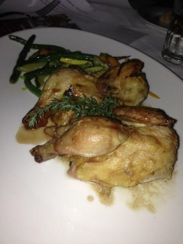 Free range chicken with vegetables