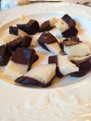 Chocolate covered parmesan cheese