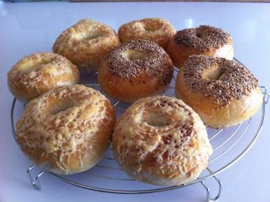 Fertig. 3 Sorten Bagels