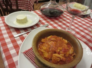 Stewed tripe with tomato sauce little bit spicy
