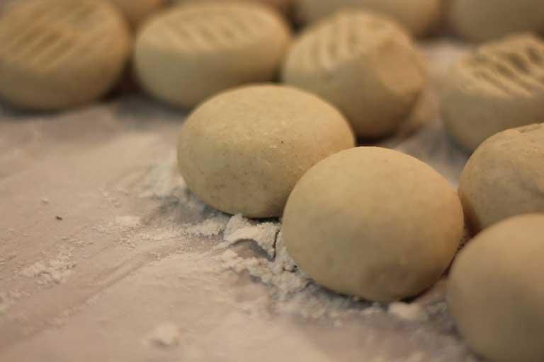 Half way through making tortilla