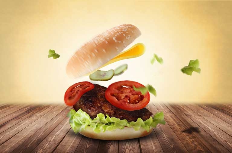 burger for breakfast