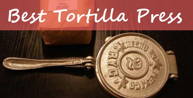 "7.5"" Cast Iron Tortillas Press Maker Flour Corn Press Heavy Gauge Pataconera"