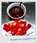 Berries choco fondu