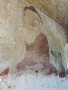 Sulamani Guphaya sitting Buddha mural