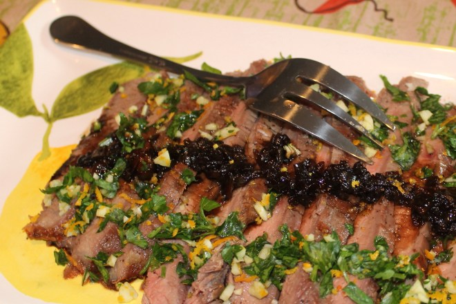 Balsamic-Glazed Flank Steak with Orange Gremolata