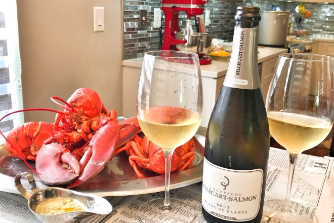 Champagne Billecart-Salmon paired with lobster