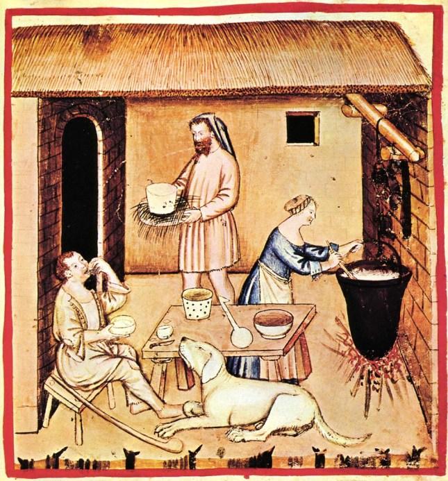 medieval cheesemaking