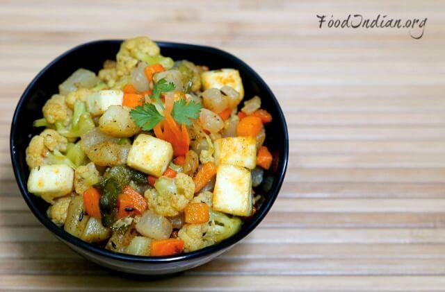 vegetable paneer korma 13