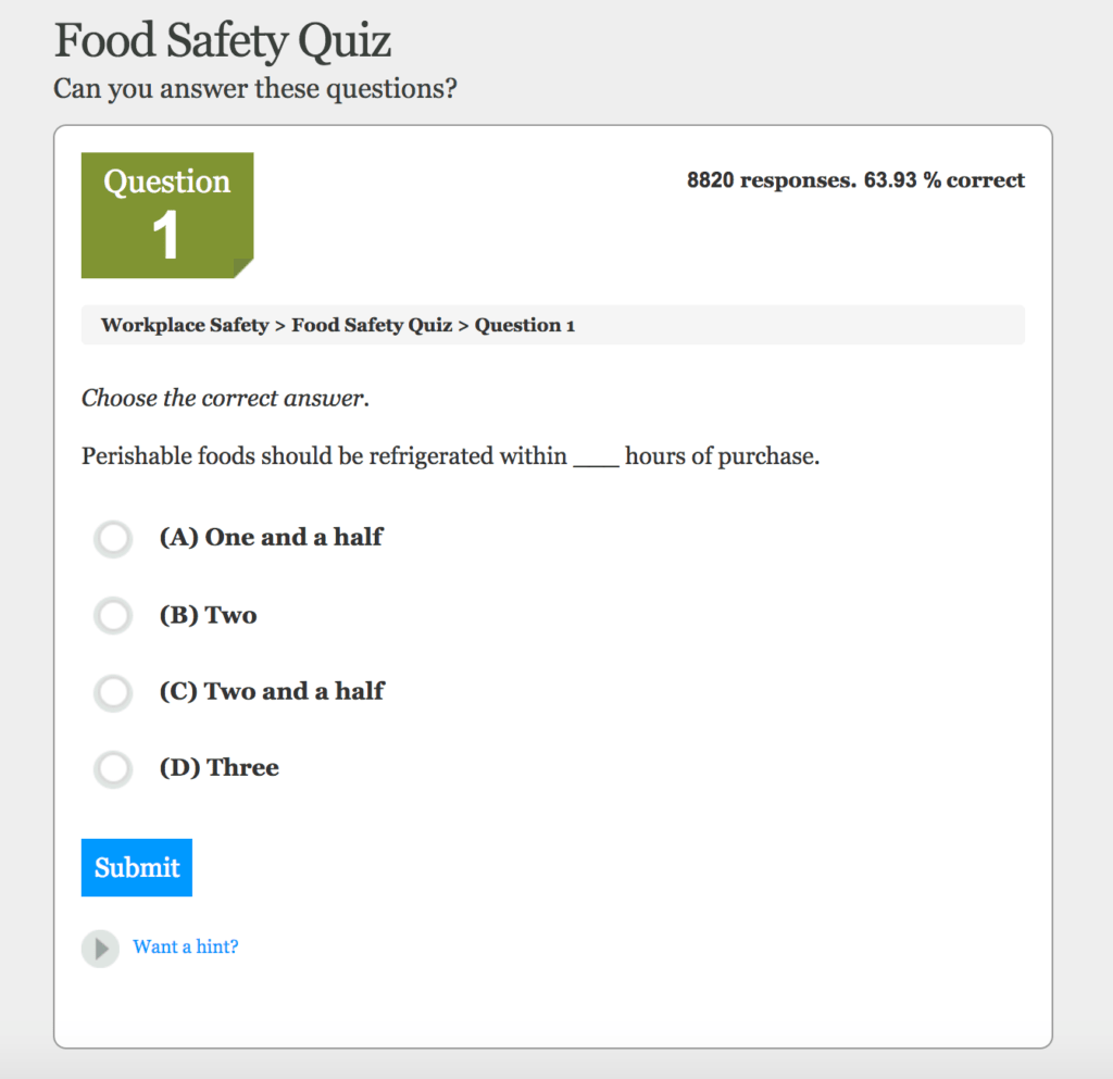 food safety quiz questions - Monza berglauf-verband com