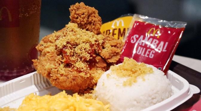 [NEW MENU] AYAM KREMES WITH SAMBAL ULEG from McDonald's Indonesia