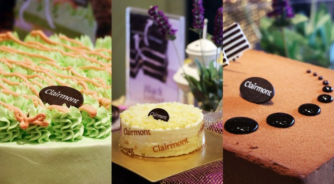NEW CAKES FROM CLAIRMONT PATISSERIE