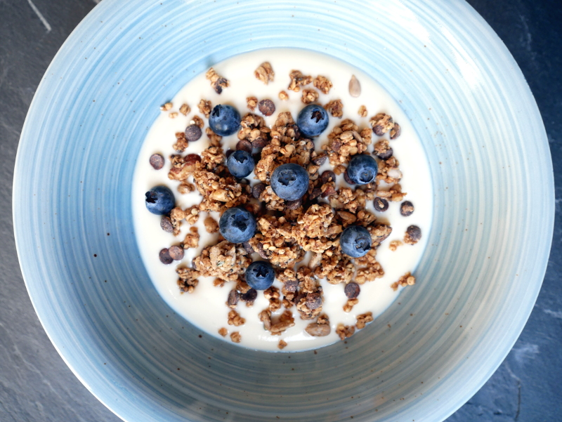 JIMINIS Chocolate Granola mit Joghurt  - Food Insects