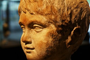 Bronze bust of a child