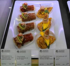 A few of the many canapes offered
