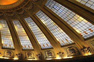 Stained glass panels in the Dome Room