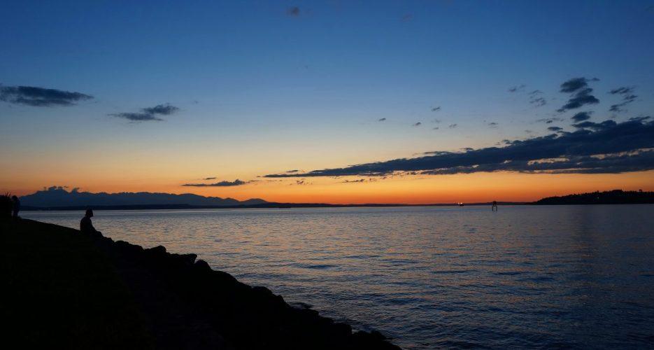Summer sunset on Alki