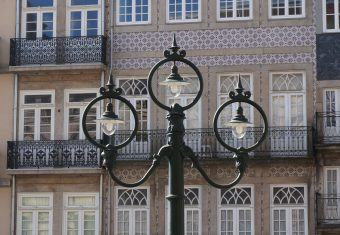 Streetlights outside Estacio Sao Bento