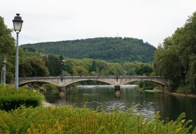 The Doubs River surrounds Besancon on three sides