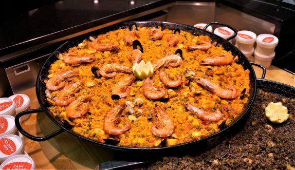 Paella at the Mercado Central