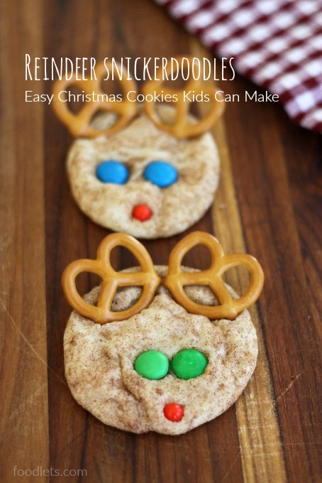Reindeer Snickerdoodles Simple Christmas Cookies Kids Can Make