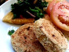 Oven fried green tomatoes. I sill like the fried fried version better