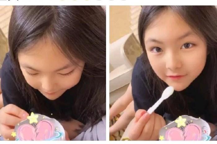 李湘晒女儿吃酸奶,直呼心肝宝贝,王诗龄尖下巴大长腿抢镜