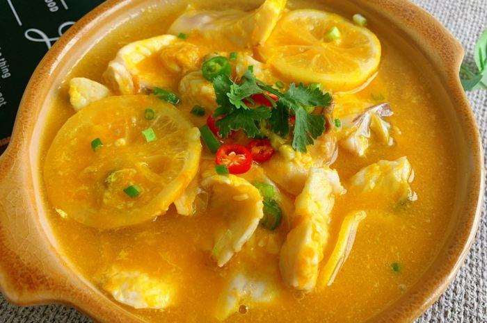 鲜美可口,低脂高蛋白金汤柠檬鱼片鲜嫩好吃