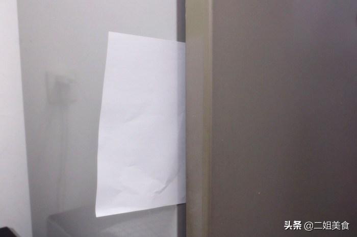 保存食物的冰箱裡放一張紙,太聰明了
