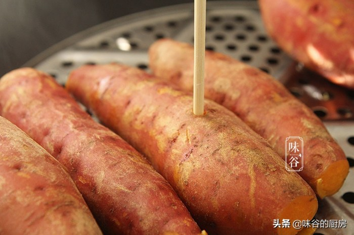 蒸紅薯時牢記4點技巧,紅薯熟得快更香甜