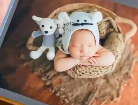 王祖藍二胎女兒滿月照火了,眉眼清秀像極了爸爸