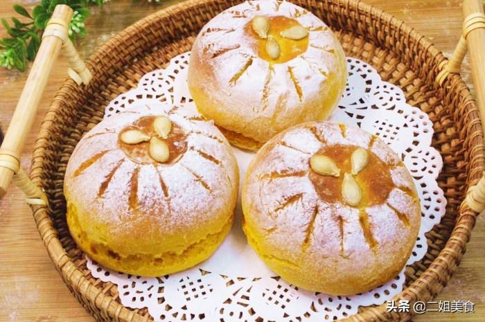 一块南瓜,一碗面粉,教您做超简单的南瓜炼乳欧包