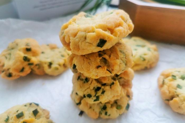 不用黄油也能做饼干1碗面粉1把香葱,教你做咸味的香葱酥