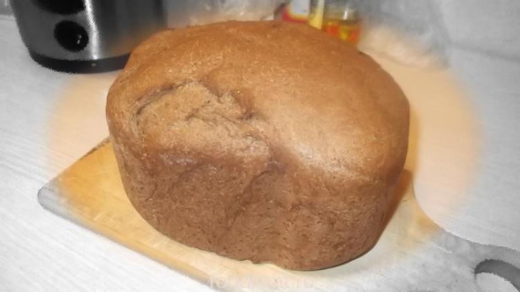 Ржано-пшеничный, дрожжевой хлеб в хлебопечке Panasonic SD-ZB2502. graphic
