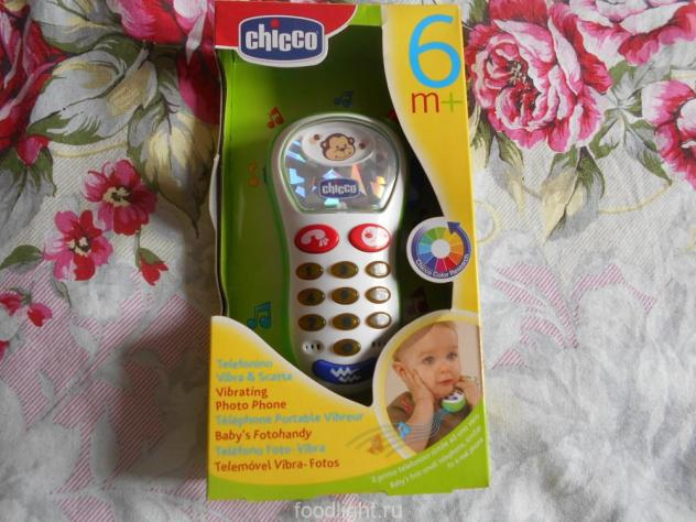 Музыкальные телефон с картинками Chicco