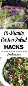 Dress up prepared Costco salads with fresh ingredients for an easy party dish or quick weeknight dinner. #costcohacks