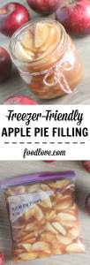 Making you're own apple pie filling is so easy! Freezing is so much easier than canning, and you'll have apple pie filling all year long.