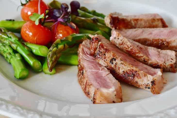 asparagus barbecue cuisine delicious