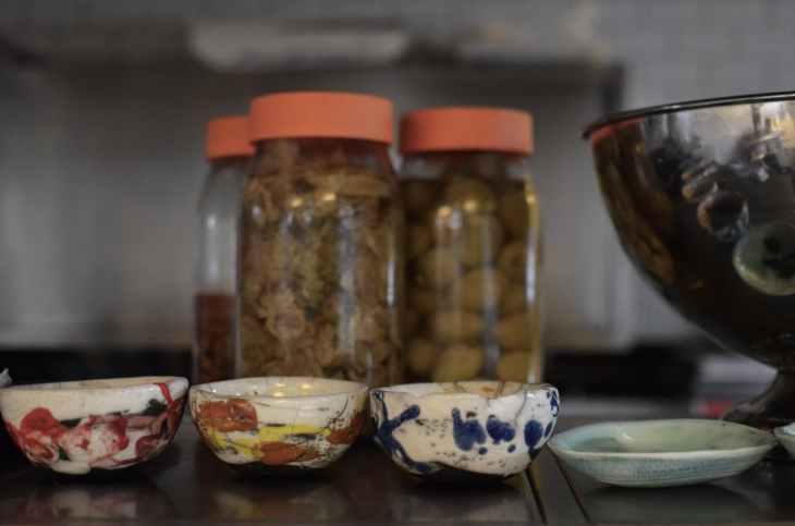 food wood glass tea