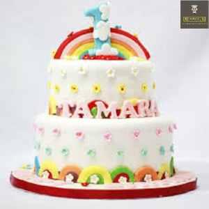 customized cake kids rainbow